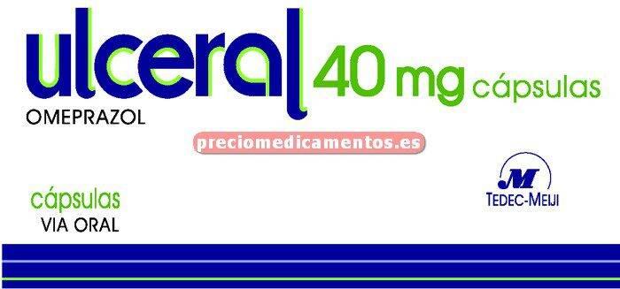 Caja ULCERAL 40 mg 28 cápsulas